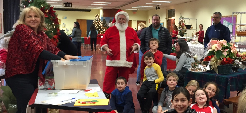 Students gleefully greeted Santa!
