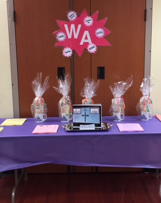 WA Table of Welcome. . . We look forward to meeting you!