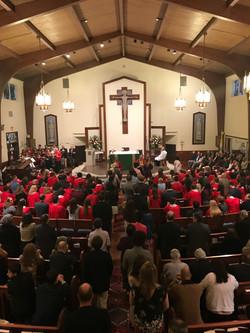 Pulsing Pews at Confirmation Mass