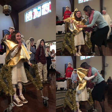 A Bethlehem Star who shone over our Christmas Pageant, December 24, 2017.