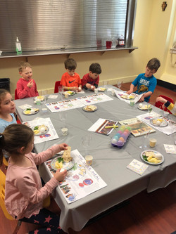 Seder Table for Religious Education