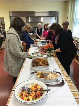 Sumptuous spread at the WA Fall Luncheon, November 2017.