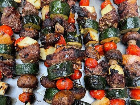 Rosemary Garlic Steak Kabobs