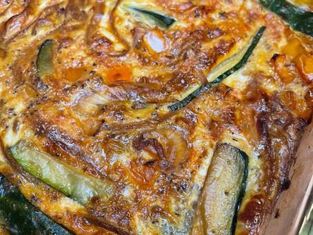 Caramelized Onion, Pepper & Zucchini Frittata