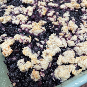 Blueberry Bars with Oatmeal Crumble Topping