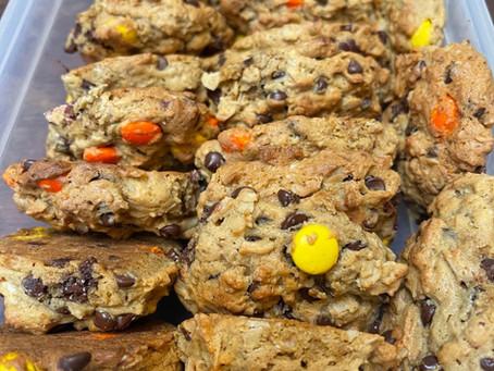 Ultimate Reese's Monster Cookies