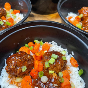 Glazed Hoisin Meatball Bowls