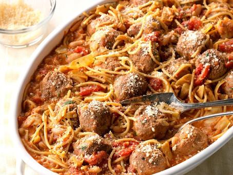 Spaghetti & Meatball Skillet