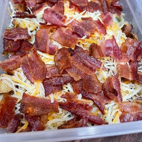 Cheesy Breakfast Potatoes with Bacon