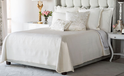 Ivory Batton Coverlet KING