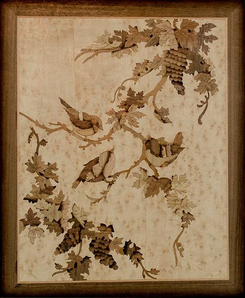 Fåglar på vinranka 14510