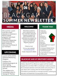 BlackCAP Summer Newsletter 2016