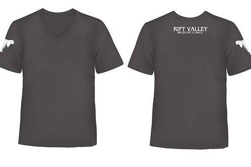 Mens fitted V-Neck T-Shirt Black