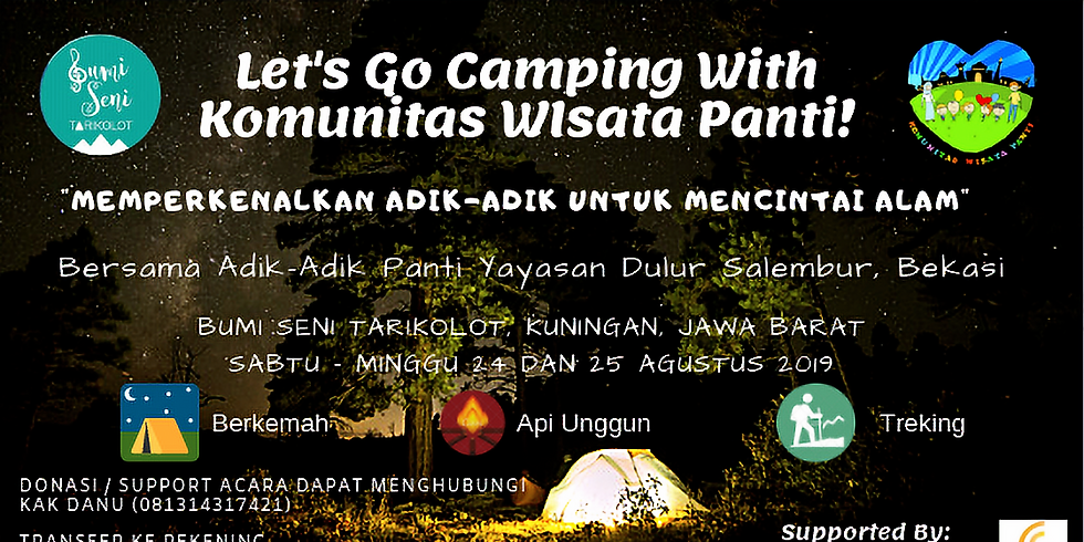 Let's Go Camping With Komunitas Wisata Panti