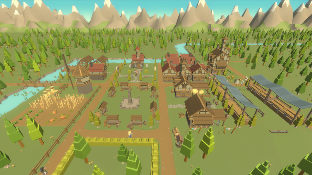 Idle Realm Builder Human City