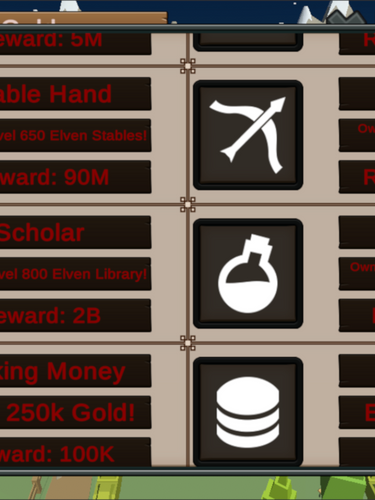 Achievements Panel