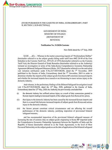 Cus Notf 31 of 2020 reg Polybutadiene Ru