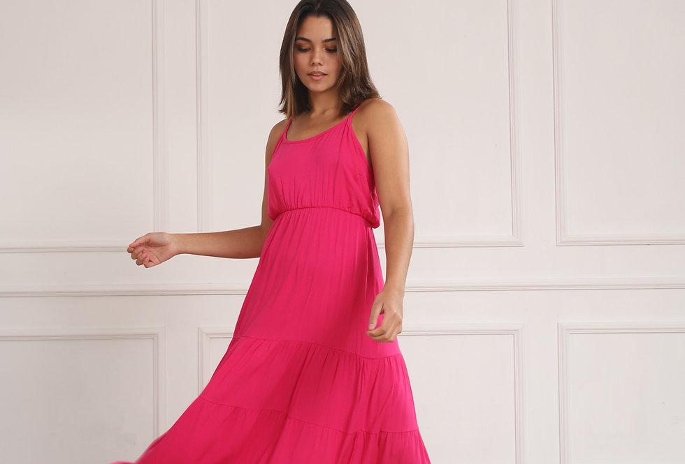 Vestido Atenas - Fucsia