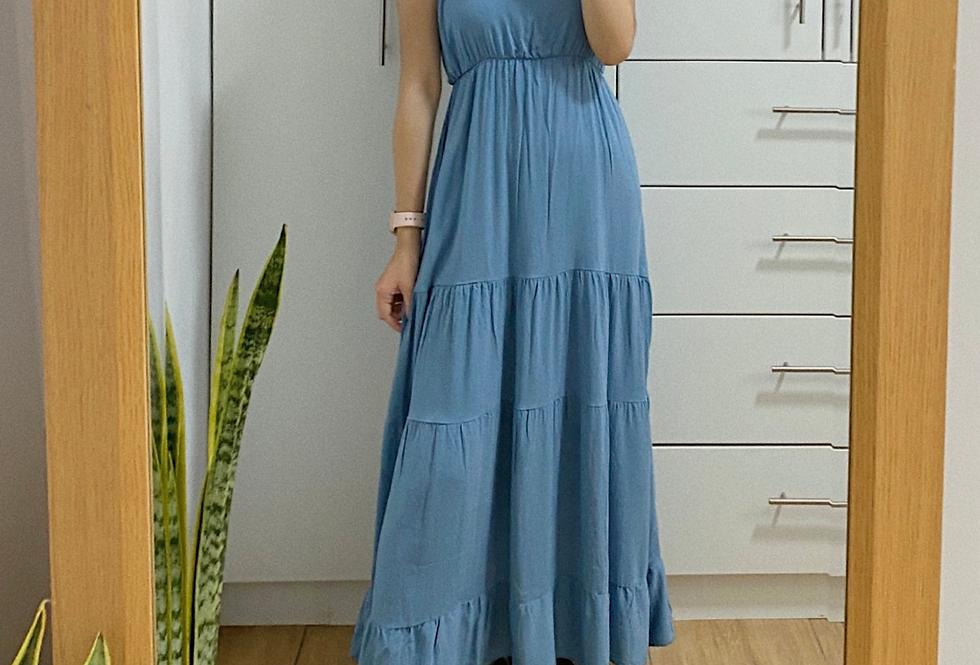 Vestido Atenas - Acero