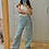 Thumbnail: Wide Leg Jeans - Celeste