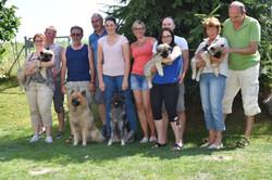 Das letzte Gruppenfoto bevor die Welpen in das neue Zuhause fahren werden