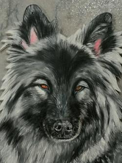 Portraitmahlung einer Künstlerin
