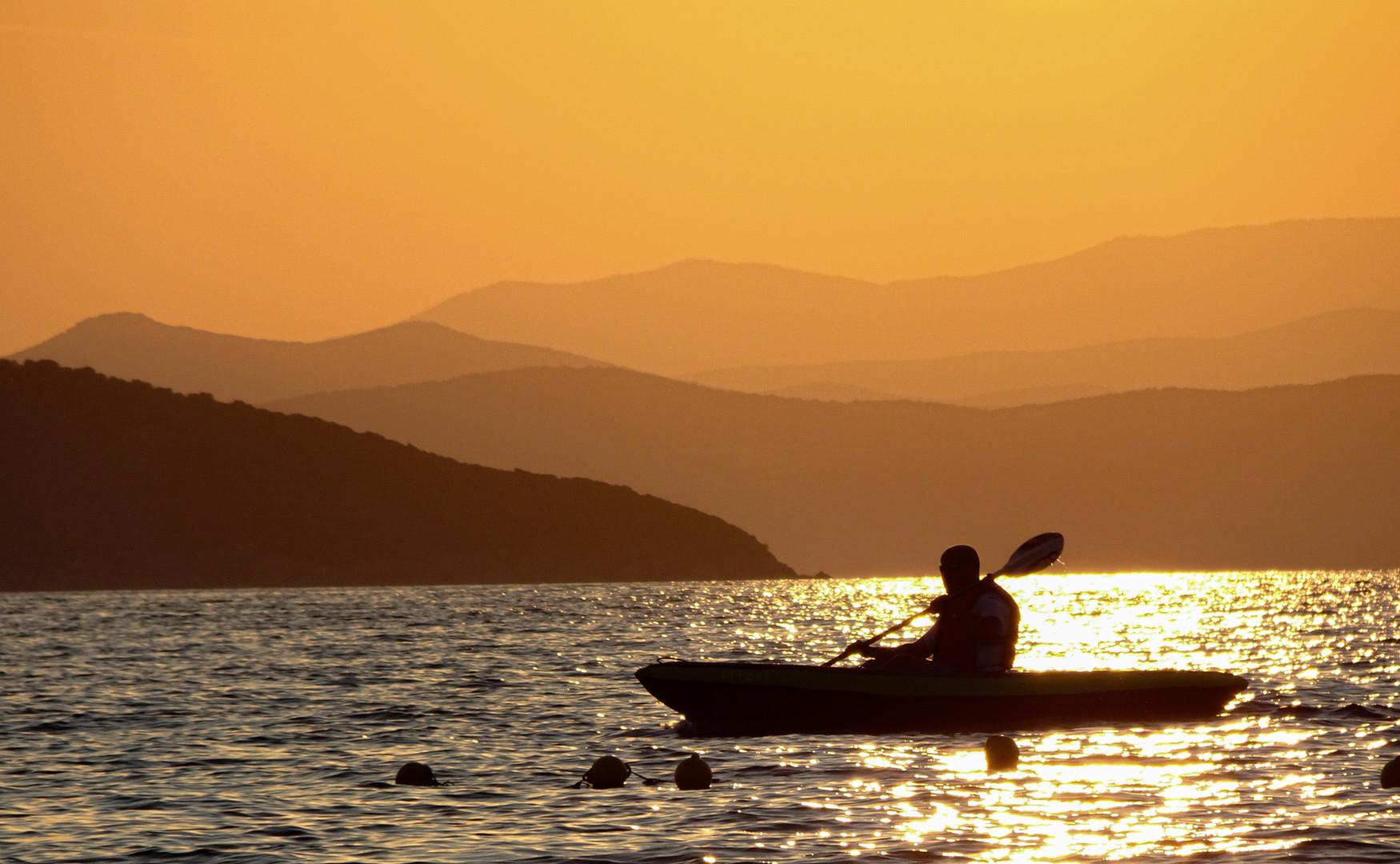 time for kayaking...