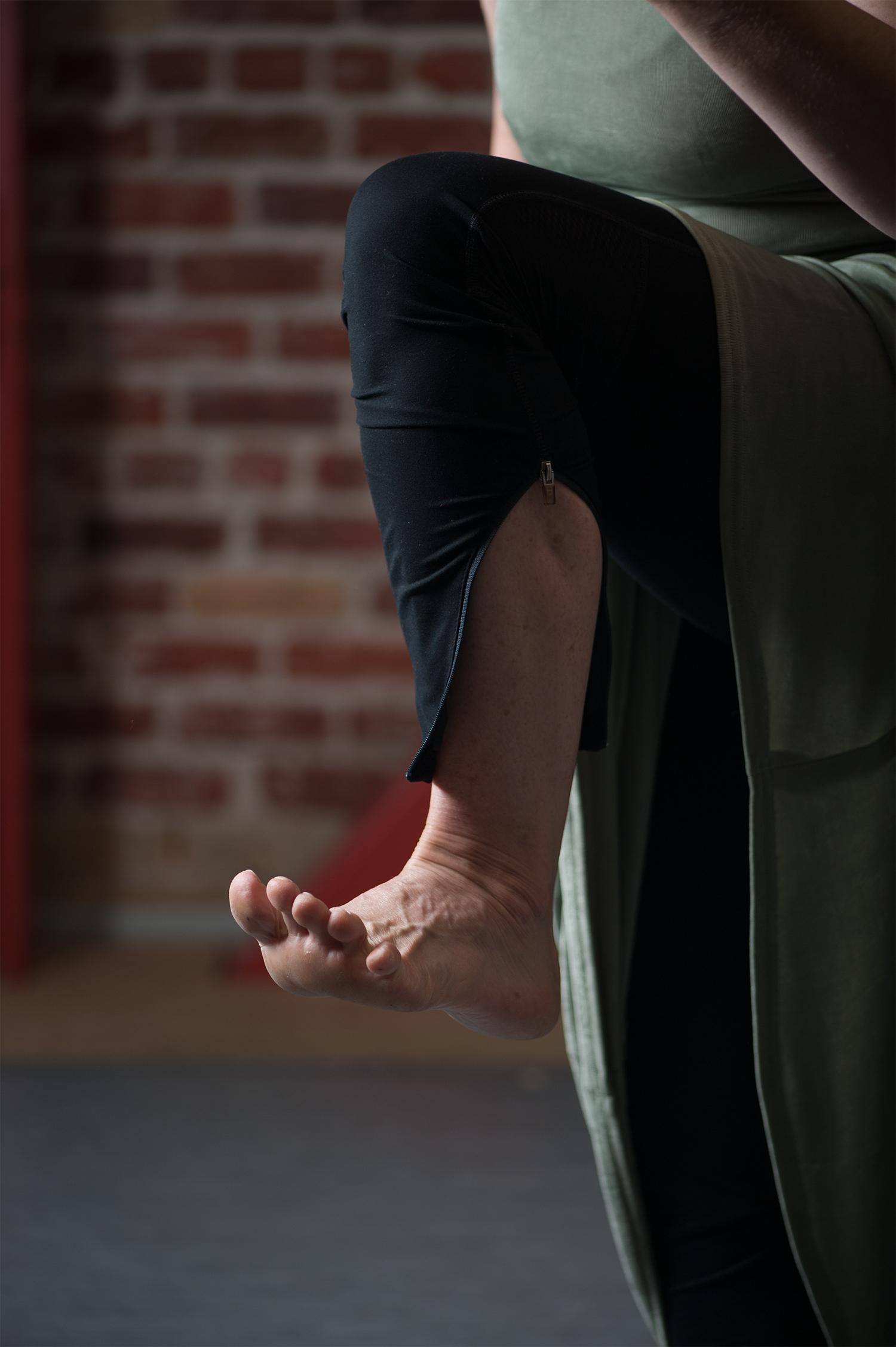 Mary Carbonara flexed foot by Lynne Fried