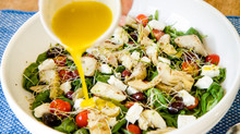 Warm Artichoke and Feta salad with lemon dressing