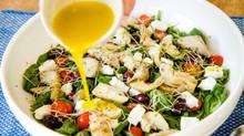 Warm Artichoke and Feta salad with lemon dressing