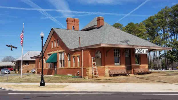 Forsyth, GA depot sign