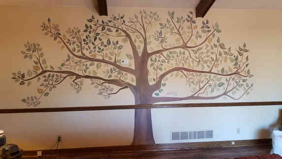 Hand painted mural for a customer in Griffin, GA
