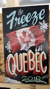 Oil on panel art made for a sign meet in Quebec City
