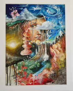 """The Door""  Latex on canvas"