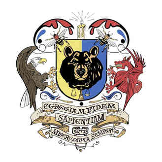 Hand drawn and digitized family crest