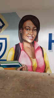 Hand painted mural for Gordon State College in Barnesville, GA
