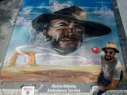 Custom chalk art for Marietta Chalktoberfest in Marietta, GA