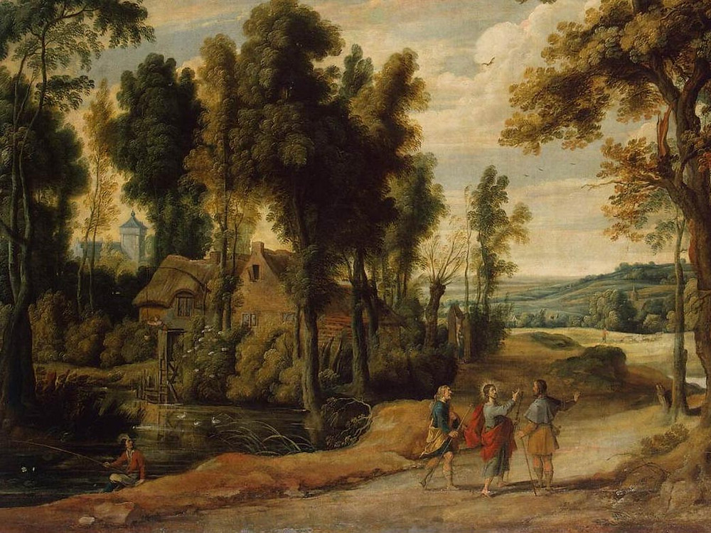Landscape with Christ and his Disciples on the Road to Emmaus by Jan Wildens