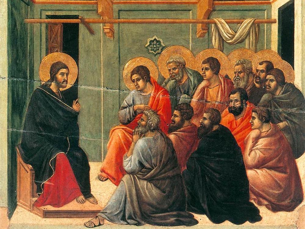 Christ Taking Leave of the Apostles by Duccio di Buoninsegna