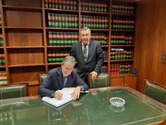 Visita del Sr. Presidente del Tribunal Superior de Justicia de Galicia a las instalaciones de la Sed