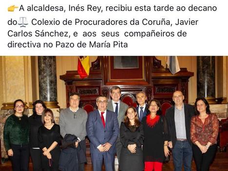 Reunión de la Junta de Gobierno con la alcaldesa, Inés Rey.