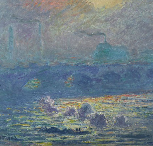 Claude Monet, Waterloo Bridge, Sonne, 1903, Öl auf Leinwand, 63,5 x 98,4 cm, Denver Art Museum