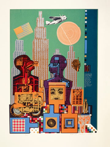 Eduardo Paolozzi, As is When: Wittgenstein in New York, 1965 © Trustees of the Paolozzi Foundation, Licensed by/VG Bild-Kunst, Bonn 2018