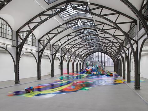 """It Wasn't Us"" – It's Katharina Grosse, and a Great Installation at Berlin's Hamburger Bahnhof"