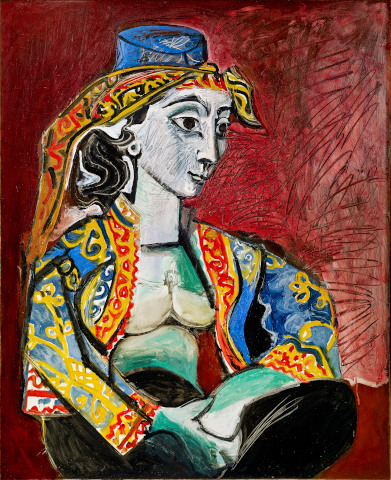 Pablo Picasso, Jacqueline in türkischem Kostüm, 1955, Öl auf Leinwand, Sammlung Catherine Hutin © Succession Picasso/VG Bild-Kunst, Bonn 2019. Photo: Claude Germain