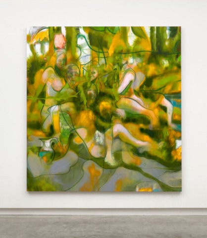 Buchmann Galerie: Nigel Cooke, Spring Bathers, 2019. © Nigel Cooke, courtesy Buchmann Galerie and Pace Gallery, Photography by Robert Glowacki