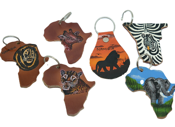 Namibian Leather Keyrings