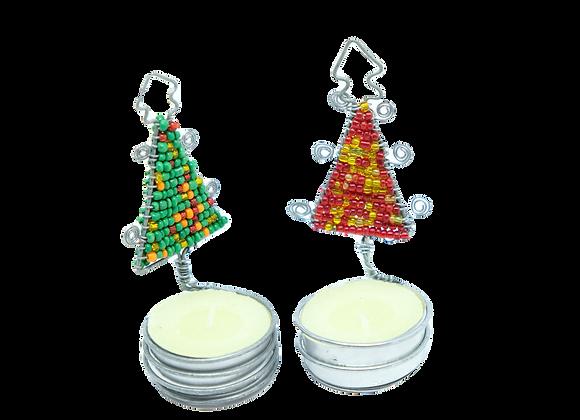 Wire Christmas Tree Tealight