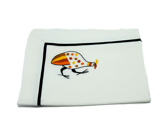 Embroidered Placemat Guineafowl