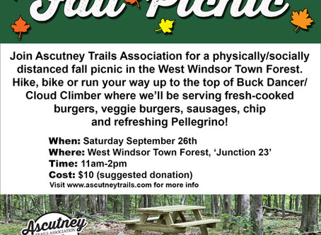 Ascutney Trails Association Fall Social Picnic